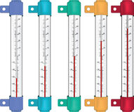The outdoors thermometer Stock Image