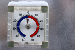 Outdoors thermometer Royalty Free Stock Photos