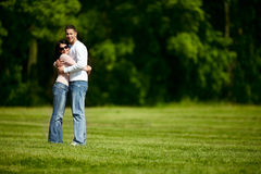 Outdoors together Stock Images