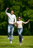 Outdoors together Royalty Free Stock Image