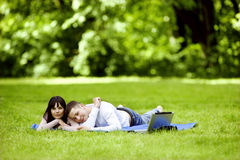 Outdoors together Royalty Free Stock Photography