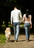 Outdoors together Stock Photography