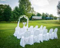 Outdoors wedding ceremony Royalty Free Stock Photo