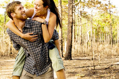 Outdoorsy Couple Stock Photo