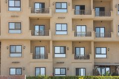 Exterior of an apartment block construction in tropical resort. Oute exterior of an apartment block construction project in tropical holiday resort Stock Images