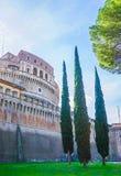 Exterior of Castel Saint`Angelo Castelo di Saint Angelo in Rom. Oute the exterior walls of Castel Saint`Angelo Castelo di Saint Angelo in Rome Italy Royalty Free Stock Photos