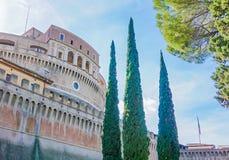 Exterior of Castel Saint`Angelo Castelo di Saint Angelo in Rom. Oute the exterior walls of Castel Saint`Angelo Castelo di Saint Angelo in Rome Italy Royalty Free Stock Photography