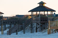 Outer Banks beach access. Beach access and gazebo at the Outer Banks, North Carolina Royalty Free Stock Images