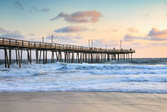 Free Outer Banks Fishing Pier Morning Light North Carolina Stock Photography - 80148202