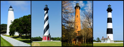Outer banks lighthouses stock image