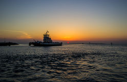 Outer Banks, NC Sunset Marina Stock Image