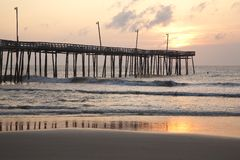 Outer Banks Ocean Pier stock photos