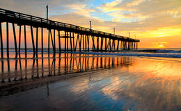 Outer Banks Sunrise. Taken at the Rodanthe Pier located in Rodanthe, North Carolina Stock Image
