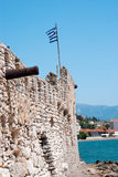 Outer Castle wall in Nafpaktos Stock Photos