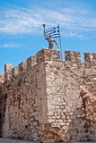 Outer Castle wall in Nafpaktos. Central Greece Royalty Free Stock Photo