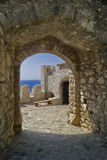 Outer Castle wall in Nafpaktos city Royalty Free Stock Photography