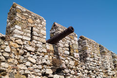 Outer Castle wall in Nafpaktos, Greece Royalty Free Stock Photo