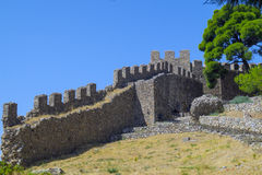 Outer Castle wall in Nafpaktos, Greece. Outer Castle wall in Nafpaktos central Greece Stock Photography