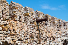 Outer Castle wall in Nafpaktos town. Outer Castle wall in Nafpaktos central Greece Royalty Free Stock Photos