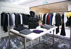 Outer clothing department Stock Photos