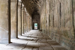 Outer Corridor of Angkor Wat, Cambodia Stock Images