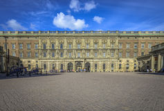Outer courtyard at Stockholm's Royal Palace Stock Photos