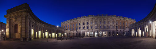 Outer courtyard at Stockholm's Royal Palace Royalty Free Stock Images