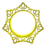 Outer decorated golden baroque vector circle frame Stock Photos