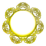 Outer decorated  golden frame Stock Images