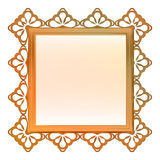 Outer decorated  metallic bronze square frame Stock Photo