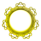 Outer decorated metallic vector gold frame Royalty Free Stock Image
