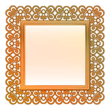 Outer decorated vector bronze square frame Royalty Free Stock Images