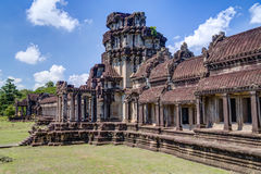 Outer gallery of the Angkor Wat  complex Stock Photos