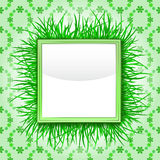 Outer grass square with green foliage  pattern Royalty Free Stock Photography