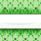 Outer grass stripe with green foliage  pattern Royalty Free Stock Images