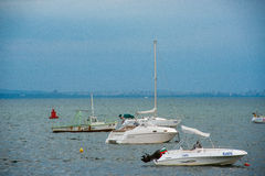 Outer harbor in Pomorie, Bulgaria Royalty Free Stock Images