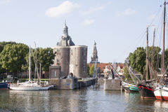The outer harbour of Enkhuizen Royalty Free Stock Photo