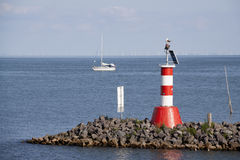 The outer harbour of Enkhuizen Stock Image