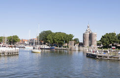 The outer harbour of Enkhuizen Stock Images