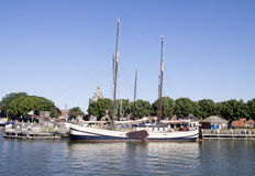 The outer harbour of Enkhuizen Stock Photo