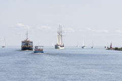 The outer harbour of Enkhuizen Royalty Free Stock Photography