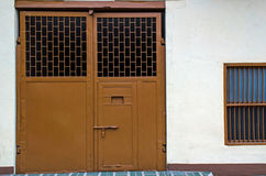 Outer Jail Door. Royalty Free Stock Images