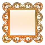 Outer lace decorated baroque bronze frame  Stock Photos