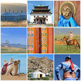 Outer Mongolia photos collage Stock Images