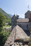 Outer protection wall of Chillon Castle, Switzerland royalty free stock photo