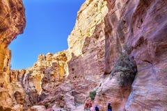Outer Siq Canyon Hiking Entrance Petra Jordan Royalty Free Stock Photography