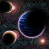 Outer space. An illustration of outer space Royalty Free Stock Photography