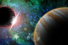 In outer space. Foreign planets in outer space royalty free illustration