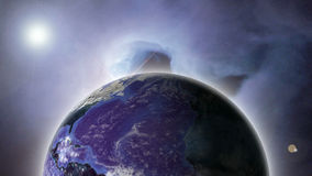 Outer space. View of Earth from Outer space Stock Photos