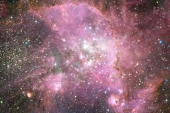 Outer space art. Nebulas, galaxies and bright stars in beautiful composition. Elements of this image furnished by NASA royalty free stock photography
